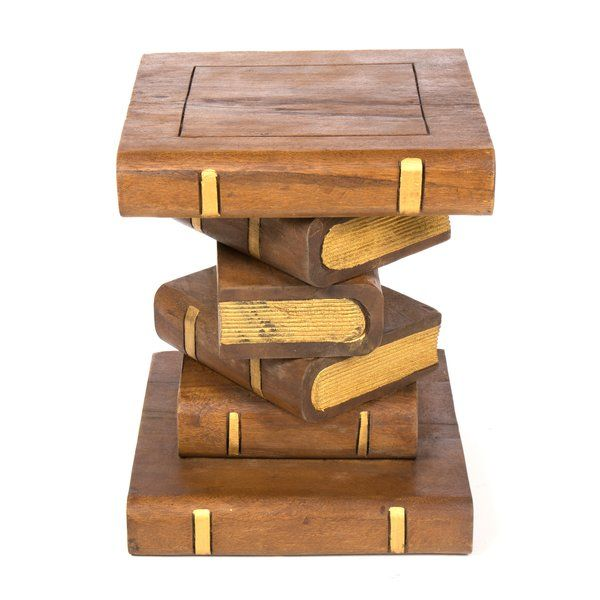 Cool Bookstack Side Table For The Home Table Wooden Books Download Free Architecture Designs Fluibritishbridgeorg
