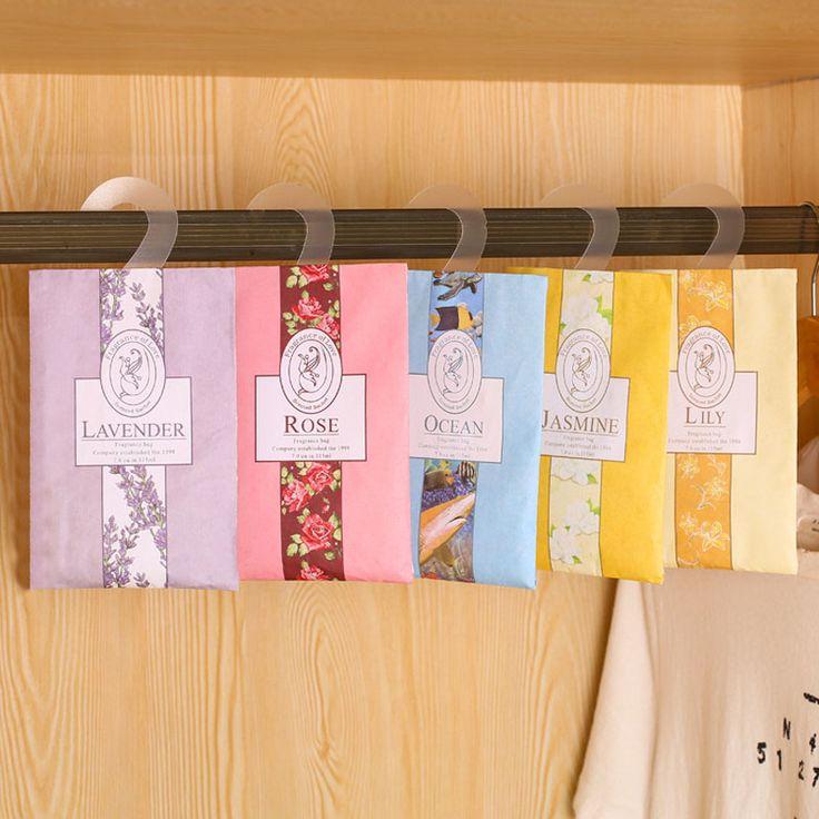 1pcs Fresh Natural Rose Jasmine Lavender Scented Sachet Fragrance  Sachets Bag Bedroom Wardrobe Car Remove Odor Flavor