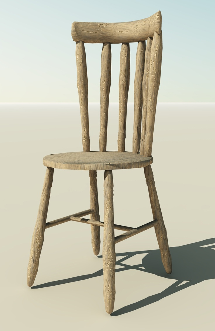 how to make a wooden chair look distressed