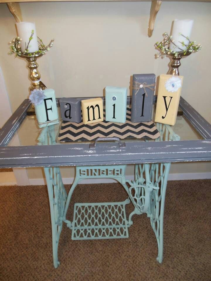 Top 43 ideas about sewing machine bases repurposed on pinterest antigua vintage sewing table - Four ways to repurpose an old sewing machine ...
