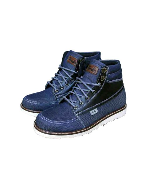 Upper : Denim mix with Genuine Leather Black Outsole : Rubber Vibram Linning : Black Style Insole : Syntetic Leather with Spon Comfort IDR 350.000