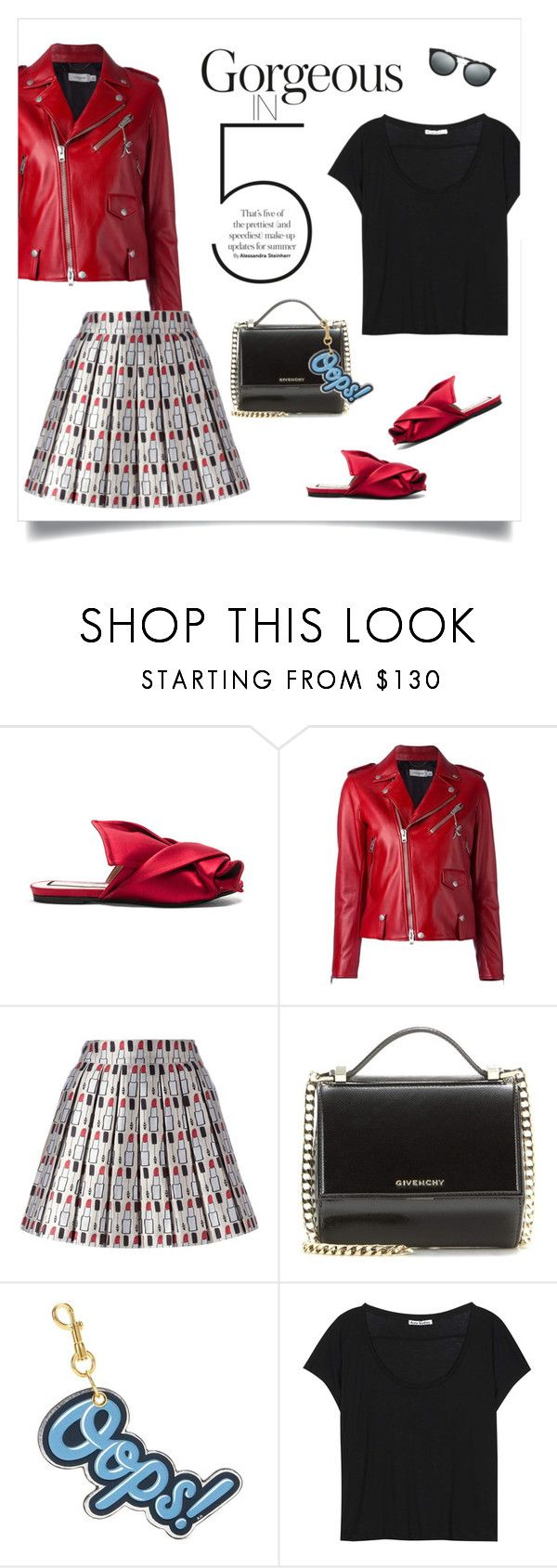 """""""Slip 'Em On: Mules"""" by sophiek82 ❤ liked on Polyvore featuring N°21, Coach, Alice + Olivia, Givenchy, Anya Hindmarch, Acne Studios and Prada"""