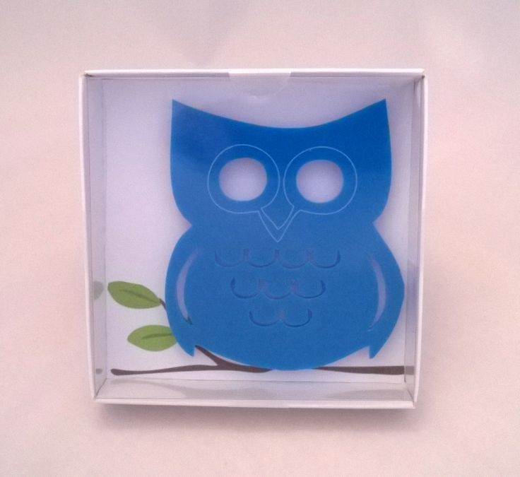 Cute packaging, would be perfect as presents! Handmade laser cut and engraved acrylic owl coaster - Designed and created in Pembrokeshire, South West Wales!