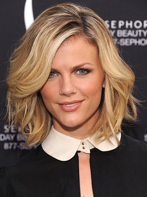Rocking the sexiest take on the bob, the supermodel, Brooklyn Decker tousles her layered cut into a bed-head style. via @stylelist