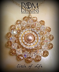 Circle of Life with Swarovski crystals in Crystal Golden Shadow.  AUD $180