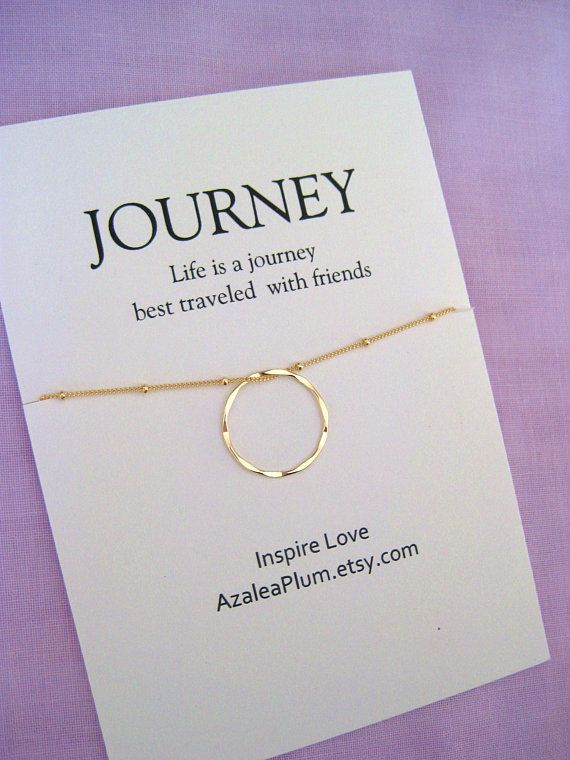 50th Birthday Gift For Women 14k Gold Filled Anniversary 5 Year Ring Necklace