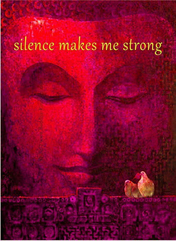 Silence makes me strong
