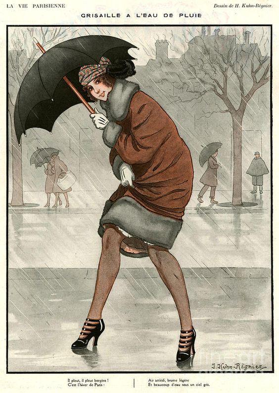 umbrellas.quenalbertini: Deco french magazine cover | The Advertising Archives on Fine Art America