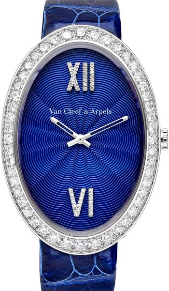 Van Cleef and Arpels Timeless XL Watch - oval-shaped 18-carat white gold or…