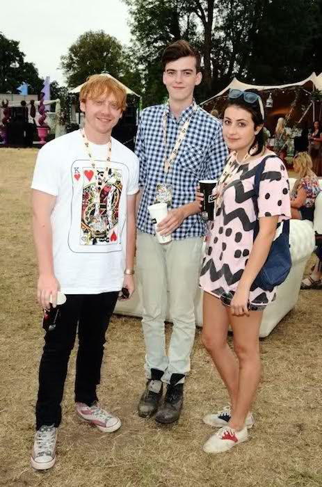 Rupert Grint (Extreme Left), and ex-girlfriend Georgia Groome (Right)...
