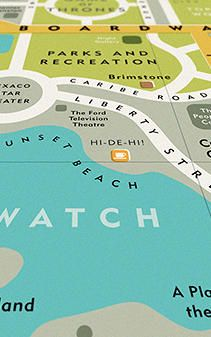 Infographic: A Map Of Famous Places From Your Favorite TV Shows