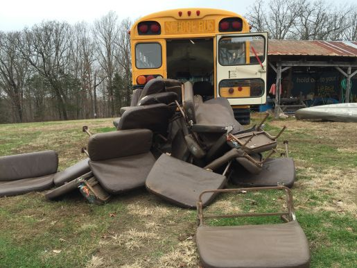 How to remove school bus seats