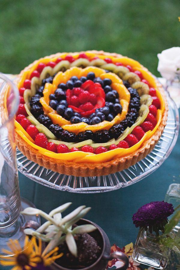 pretty fruit tart #foods