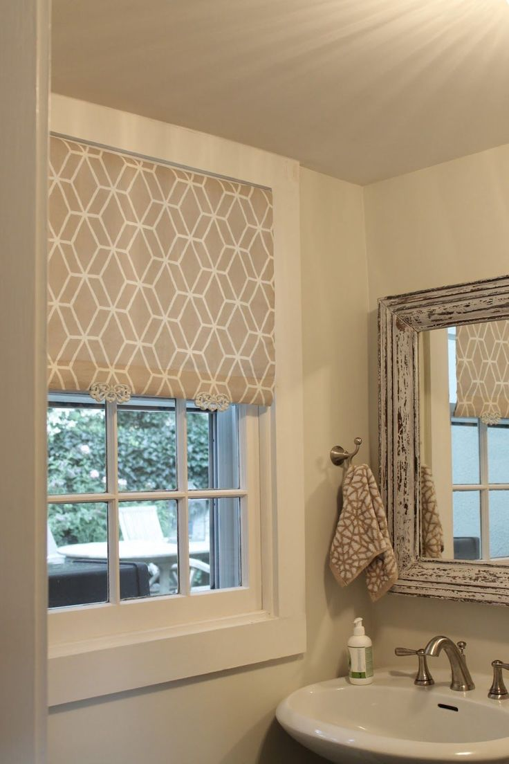 Bathroom window blinds -  5 Fabric Roller From Home Depot Plus Whatever Fabric You Want Easy Project