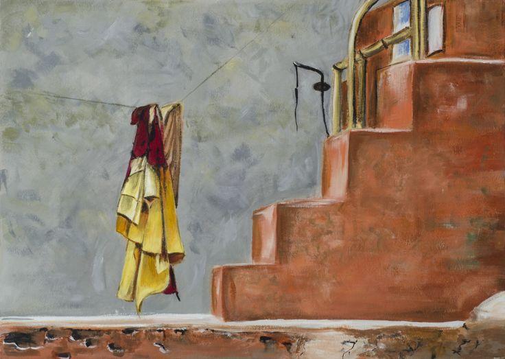Still life  acrylic painting/ 50x70cm/ cardboard