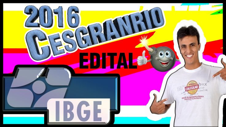 Concurso do IBGE (CESGRANRIO) 2016/ Aula Ao vivo