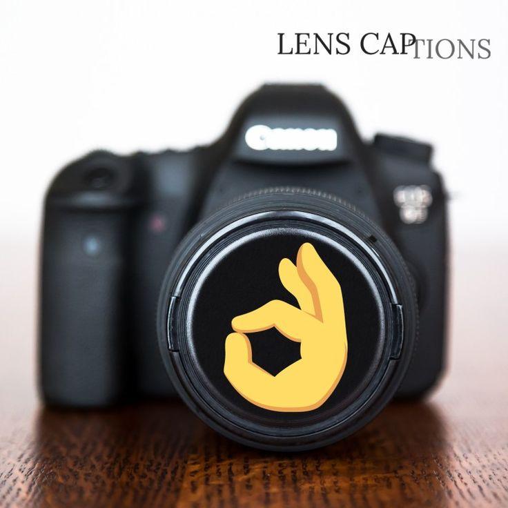 Great gift for expressive photographers – 👌 OK Hand Emoji Decorative Lens Cap