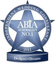 Glenda winner of Australia's top Wedding Planner   Designer of Dreams 2011 / 2012 / 2013