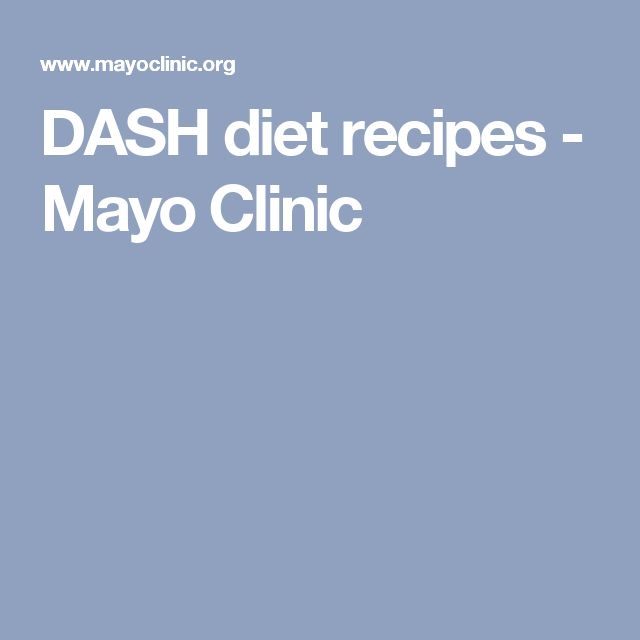 DASH diet recipes - Mayo Clinic
