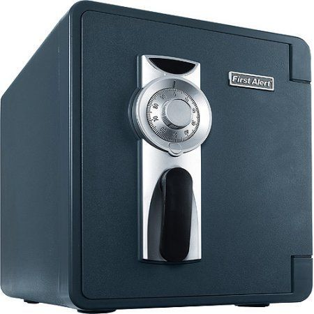 First Alert 2087F 0.94 Cubic Foot Water, Fire, and Theft Combination Safe, Gray