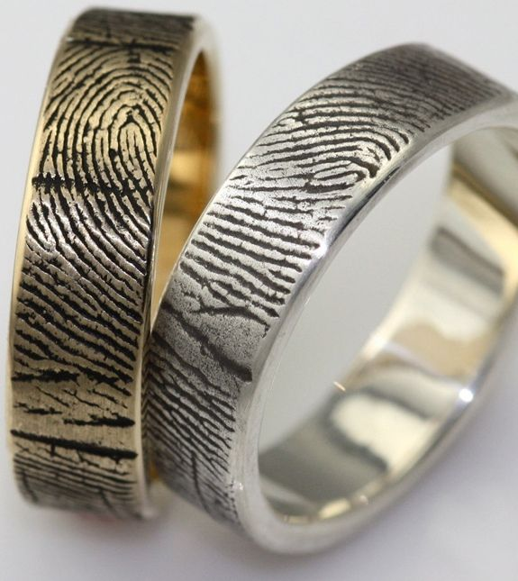 Fingerprint engagement rings and wedding bands are as unique as you