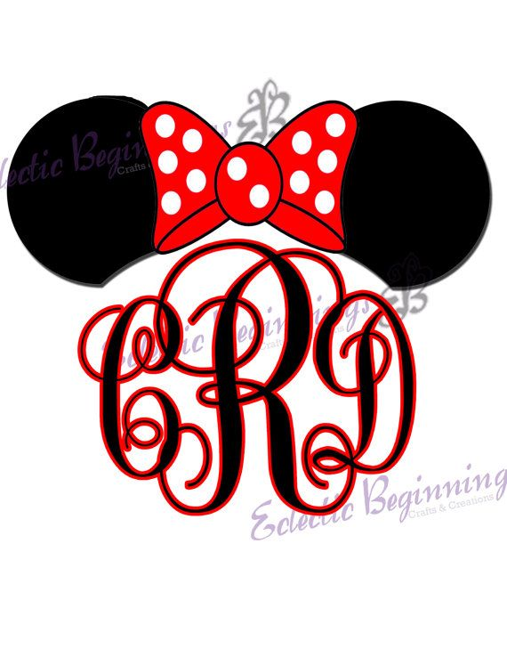 personalized and custom disney monogram initials ears name digital file diy print iron on