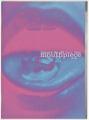 Emigre Inc., Rudy VanderLans and Zuzana Licko. Emigre 36, Mouthpiece 2. 1995