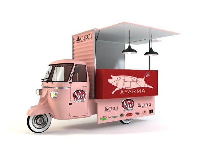 Piaggio Ape salumeria 3 ruote - Salami store on 3 wheels!