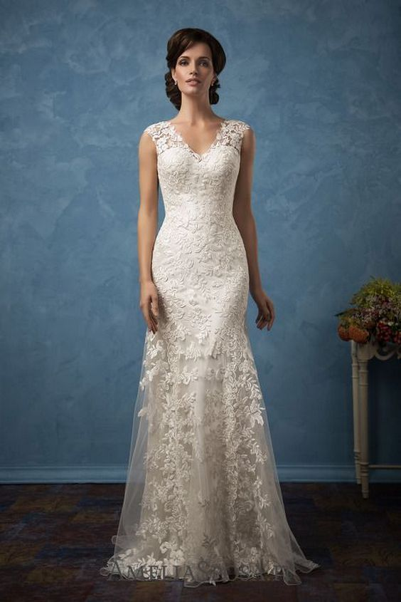 7329bde588 40+ Beautiful wedding dresses for 40 year old brides ideas | maybe 1 ...