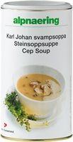 En ekslusiv suppe som gir deg et mettende måltid med et lavt kaloriinnhold. Steinsoppsuppen smaker utsøkt og har mange anvendelsesområder , er f.eks en smakfull tilsetning i pastasaus og soppstuing. Kan blandes med melk om man ønsker en fyldigere saus eller suppe.