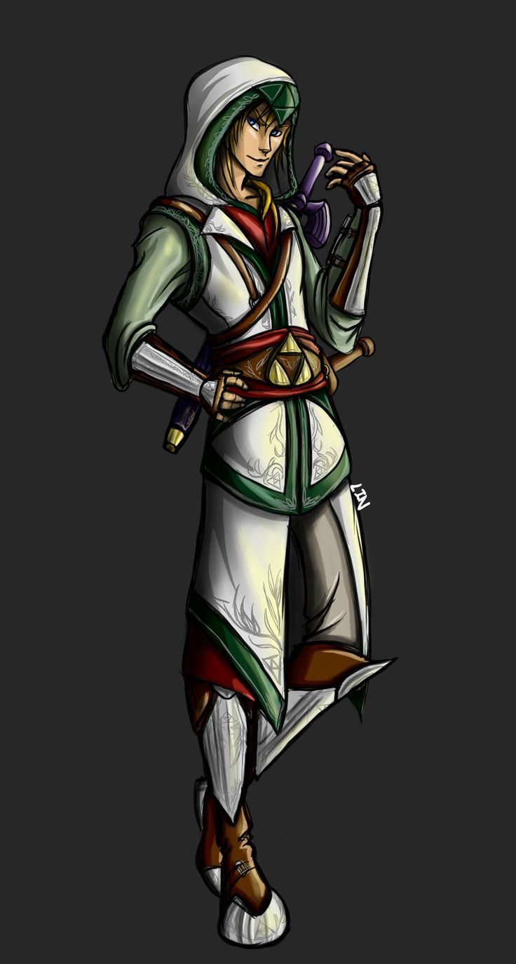 I got bored one day and decided to draw an Assassin's Creed styled Link.