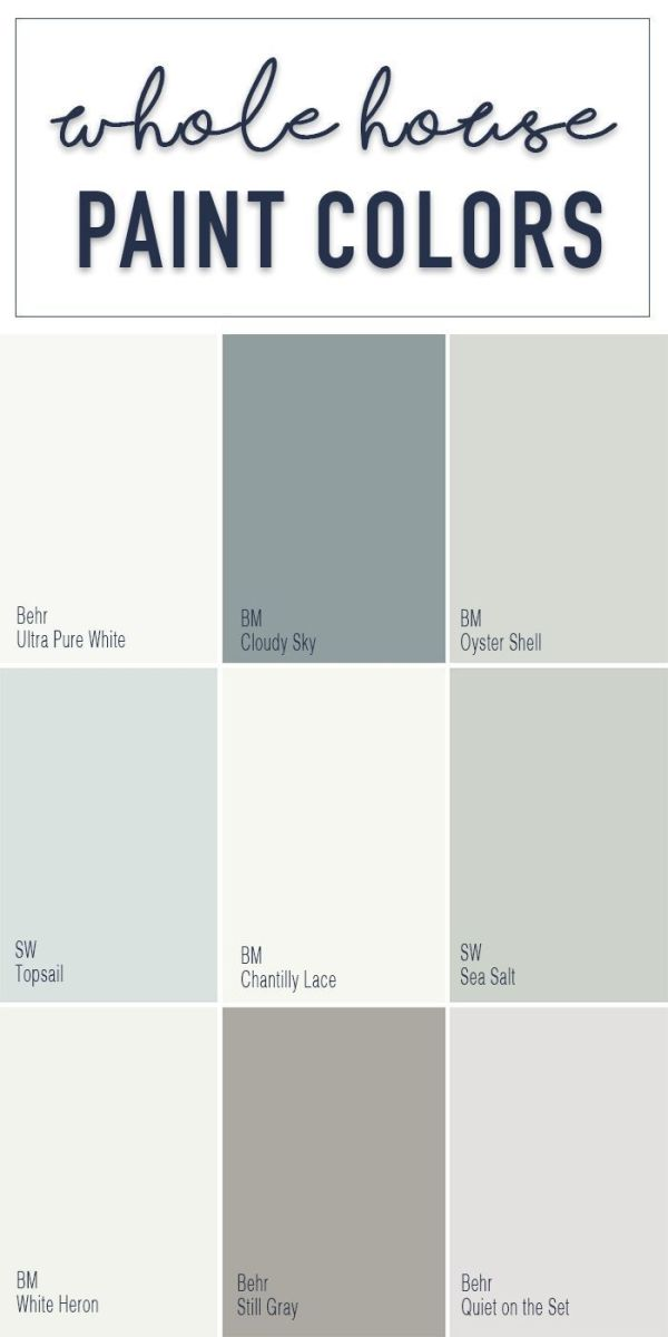 Paint colors for a whole home color palette with calming neutral paint  colors from Behr,