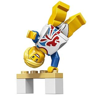 LEGO Minifigure Gymnast  I want this!