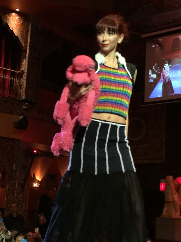 Rainbow Loom Dress At Playchic Fashion Show Designed By