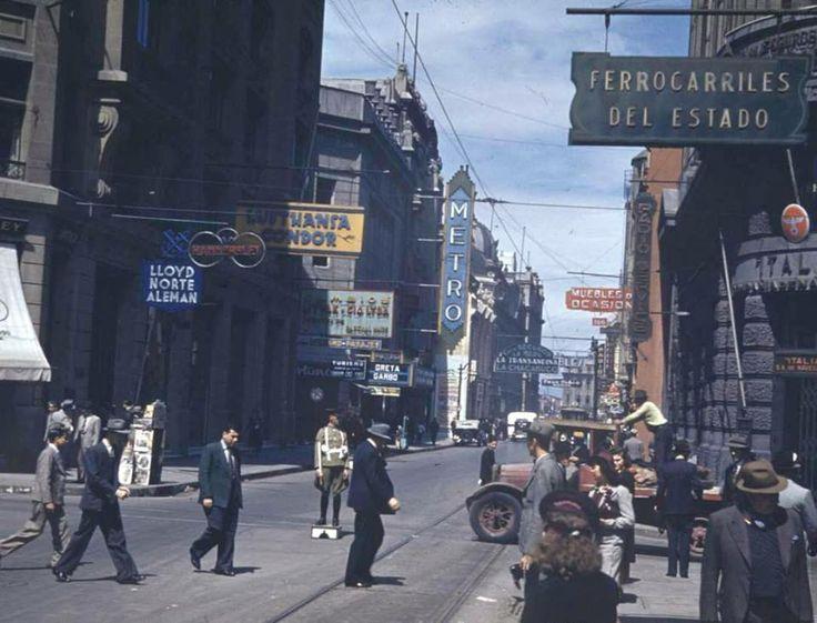Calle Bandera con Agustinas 1941