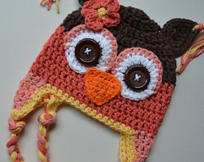 Baby hat, crochet owl hat, owl hat, crochet kids hat, baby hat, custom colors, owl hat,newborn owl hat,winter hat,baby winter hat