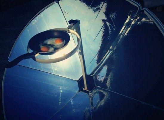 solarcooker op het dak