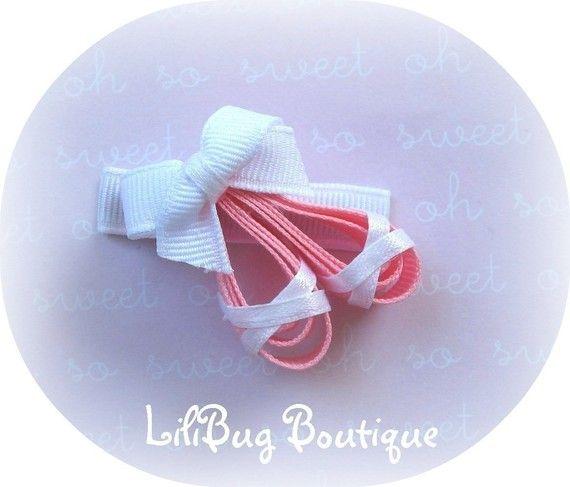 LiliBug Ballet zapatillas bailarina pelo Clip por LiliBugBoutique