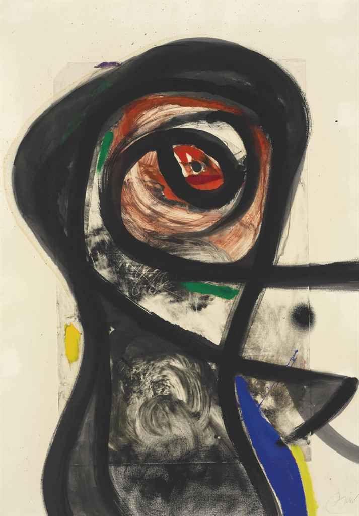 Joan Miro (1893-1983)  Sans titre