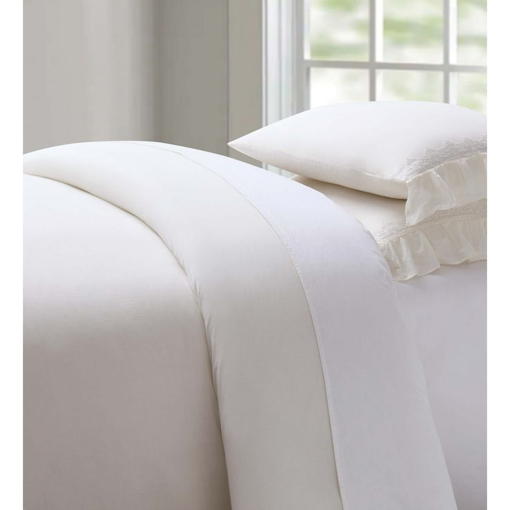 3 Piece Full/Queen Duvet Set, Ivory
