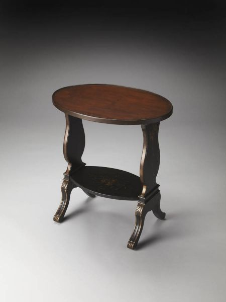 Briar Regal Black Hand Painted Accent Table By Butler Specialty Company  1336088
