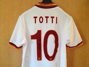 MAGLIA SHIRT CAMISETA AS ROMA AUTOGRAFATA TOTTI, SIGNED BY TOTTI, RARA