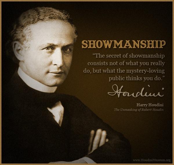 My Favorite Houdini Quote | Houdini | Magic quotes, Magic words