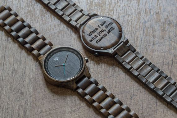 Wood Watch, black wooden watch,mens watch,groom pr…Edit description