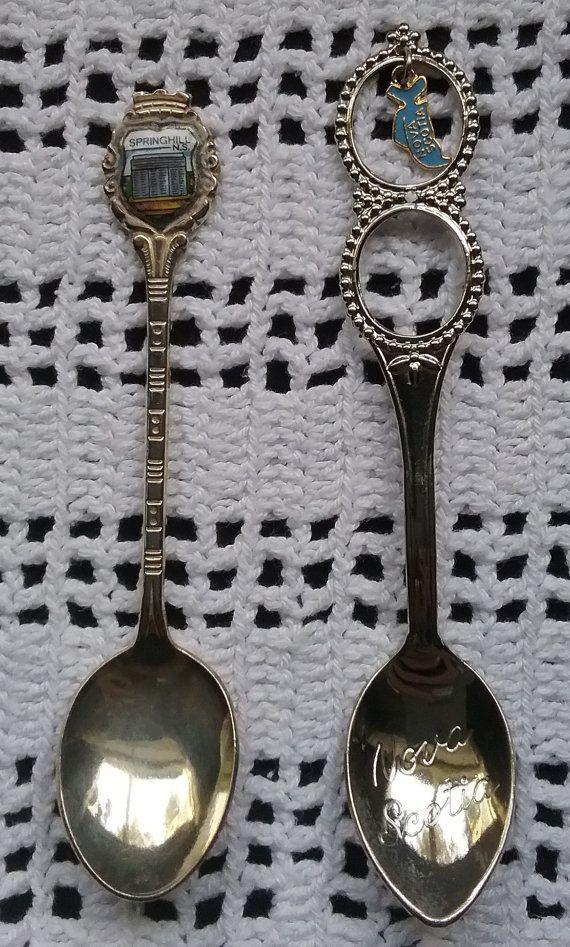 Nova Scotia Souvenir Spoons Springhill Nova by jeanienineandme