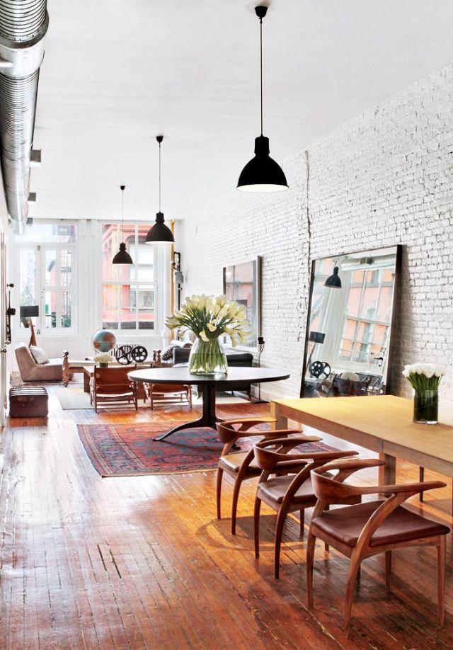 Masculine loft space with open floor plan
