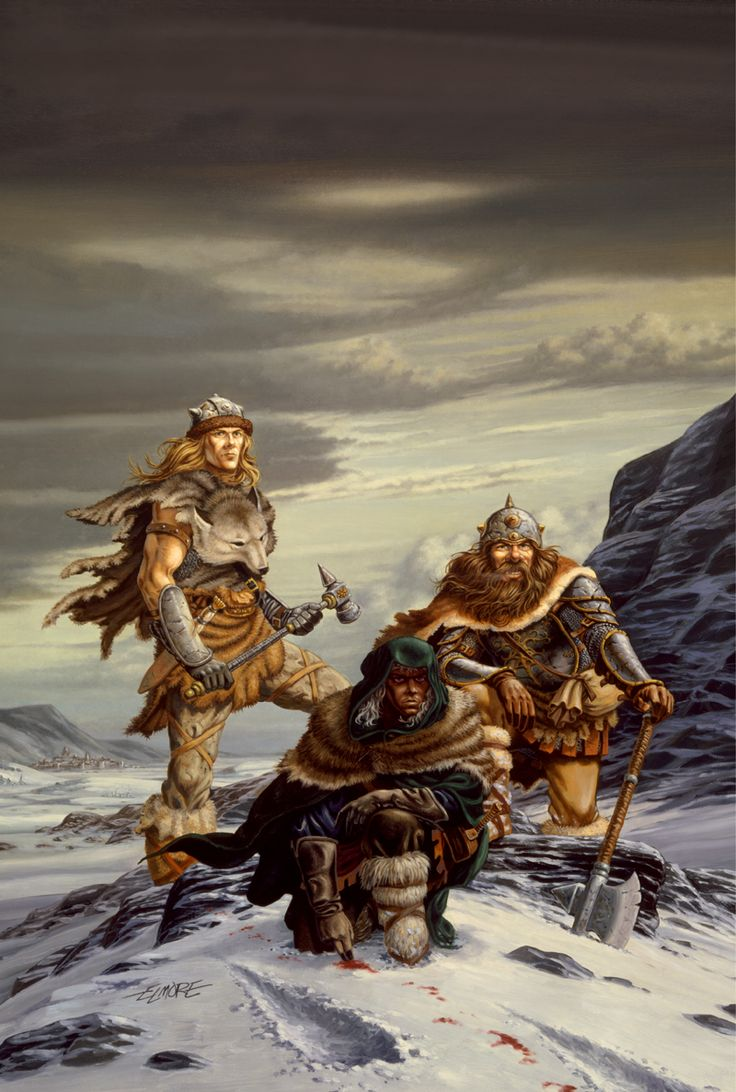 The original cover of the first published R.A. Salvatore book, The Crystal Shard. I love this cover so much!