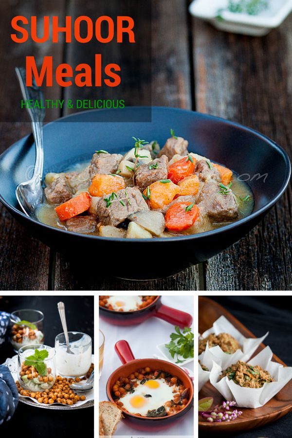 Healthy Ramadan Recipes for Suhoor. Love all these quick and easy Ramadan meal ideas.