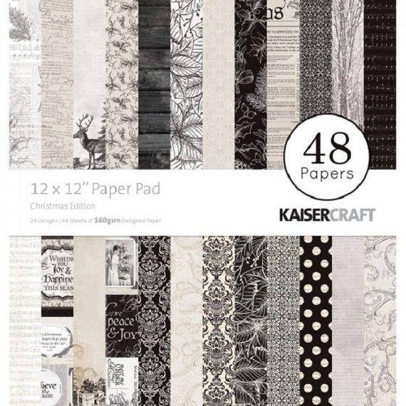Bloc Papier Scrapbooking Christmas Edition De Kaisercraft