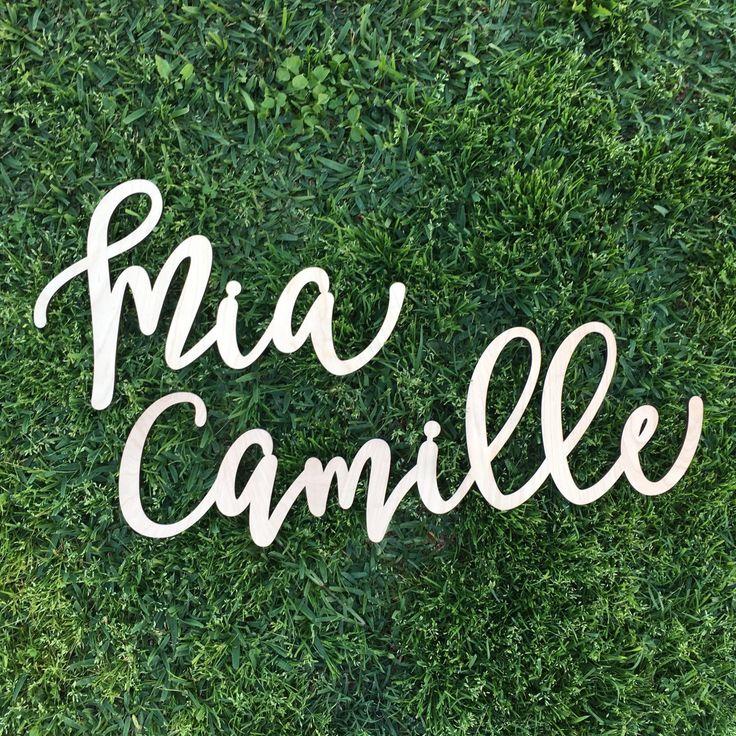 Custom sign laser cut name large birthday